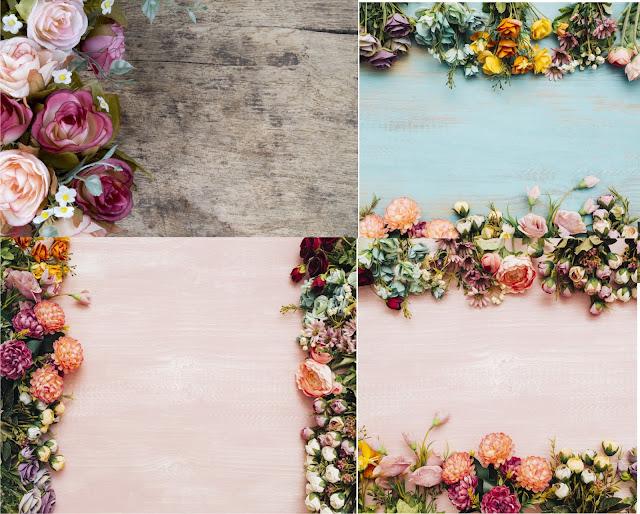 background khung hoa Cổ Điển