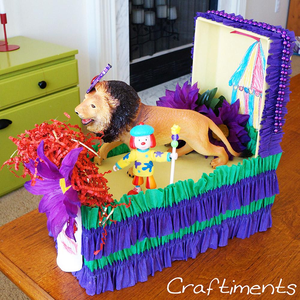 Craftiments Miniature Mardi Gras Float From A Shoebox