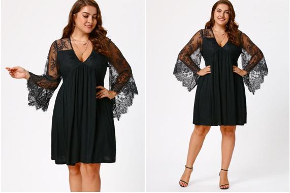black lace dresses big size clothes