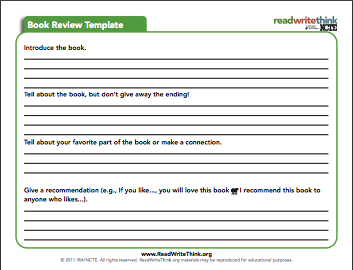Here is an interesting book review template to use with students in for more ideas and tips on how to incorporate book review template in your instruction check out this page maxwellsz