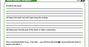 Here Is An Interesting Book Review Template to Use with Students in Class