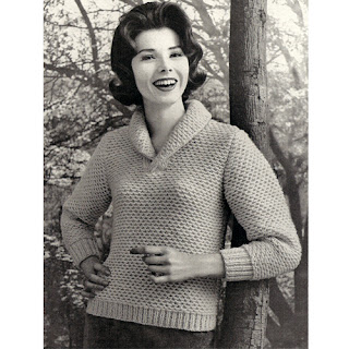 Honeycomb stitched knit pullover pattern
