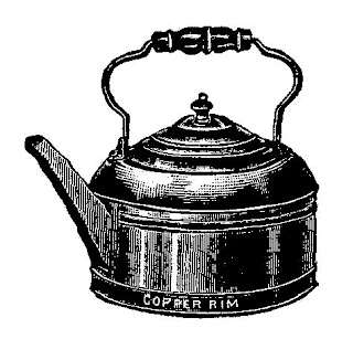 teapot illustration digital download tea