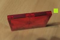 Quadrat Seite: Playbees 100 Teile Magnetische Bausteine Set für 2D und 3D Form Konstruktionen, Regenbogenfarben Magnetspielzeug, Baukasten Magnetspiel, Magnetbausteine