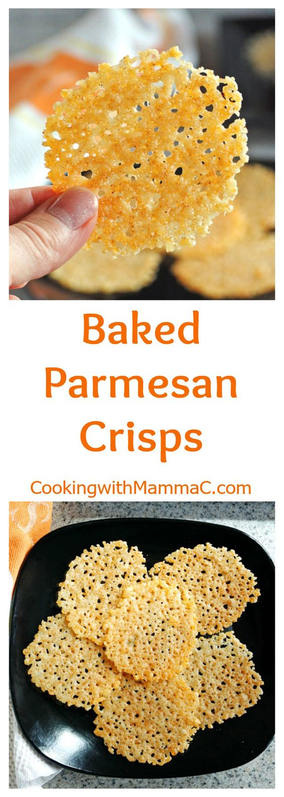 Low Carb Baked Parmesan Crisps