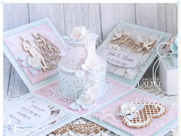 Wedding Cake Exploding Box / Tort Ślubny w Pudełku