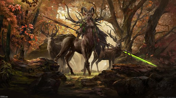 Dongjun Lu artstation ilustrações arte conceitual fantasia oriental games