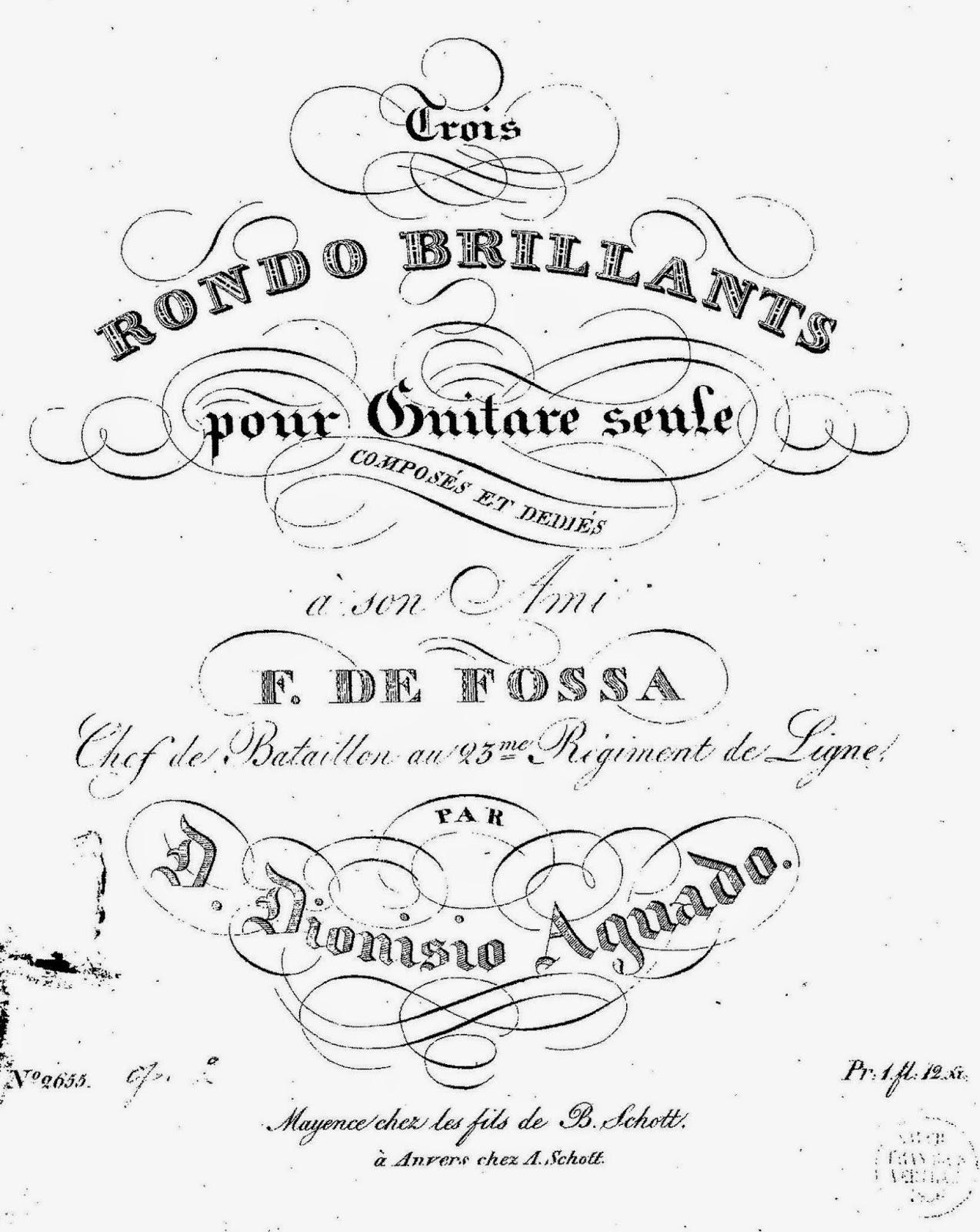 Partituras De Guitarra D Aguado Andante Y Rondo En La
