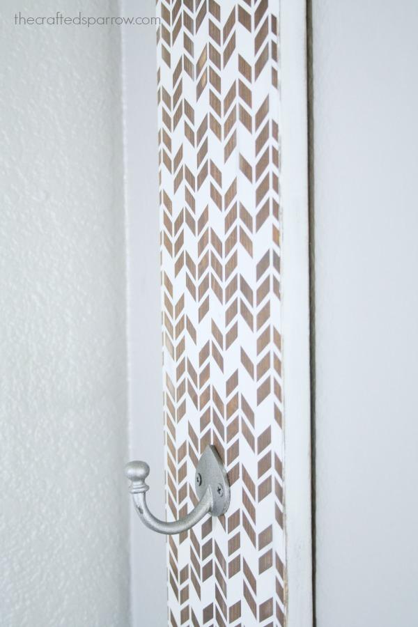 Diy Herringbone Painted Wall Hooks