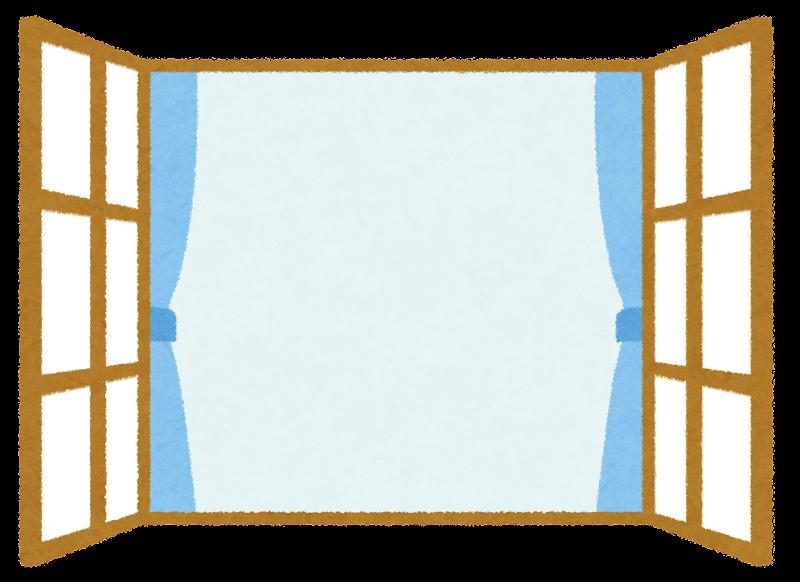 開いた窓のイラスト かわいいフリー素材集 いらすとや