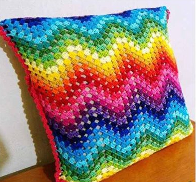 Patrón #1514: Cojin a Crochet