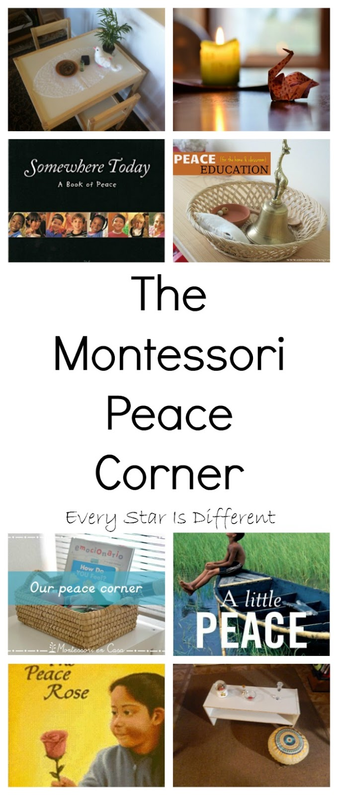 Homeschool Classroom Design ~ The montessori peace corner every star is different