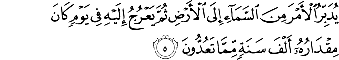 Surat As Sajdah Ayat 5