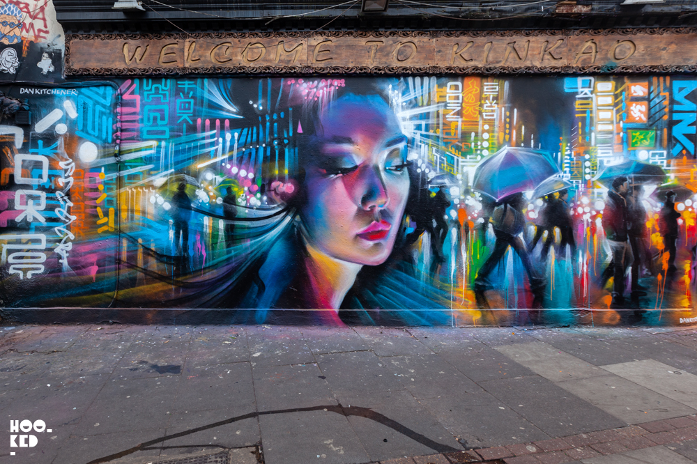 Shoreditch Street Art Mural by Artist Dan Kitchener aka DANK's