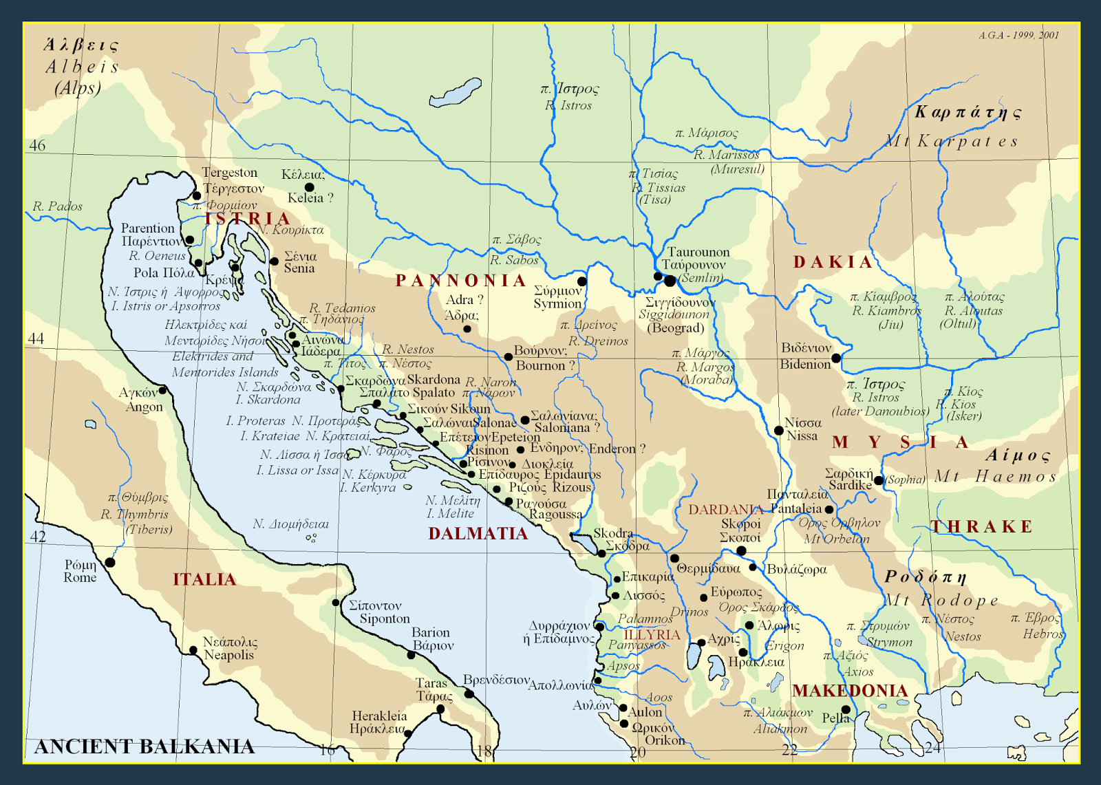Metron Ariston Maps of ancient Balkans
