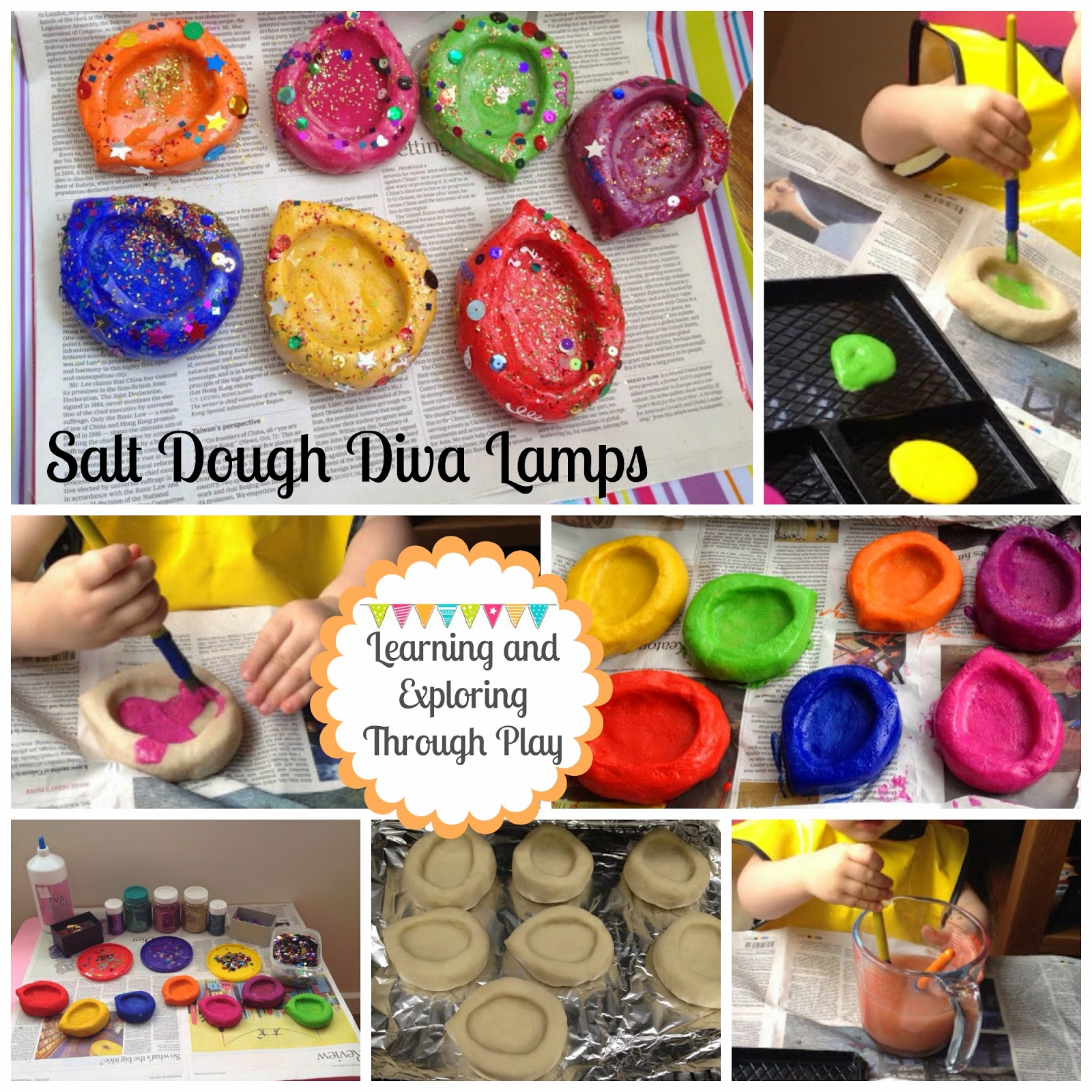 Learning and Exploring Through Play: Salt Dough Diva Lamps