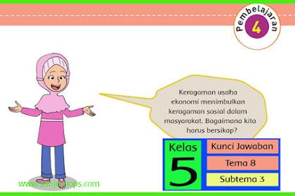 Kunci Jawaban Tematik Kelas 5 Tema 8 Halaman 119, 121, 122, 123