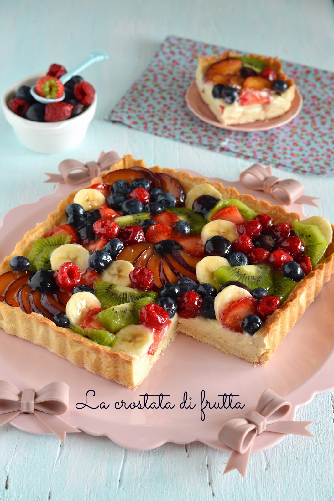 Sprinkles dress la crostata di frutta perfetta ricetta - Contorno di immagini di frutta ...