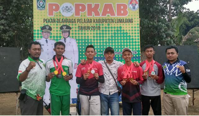 Atlet panahan putra Puslatkab memborong medali di semua nomor putra