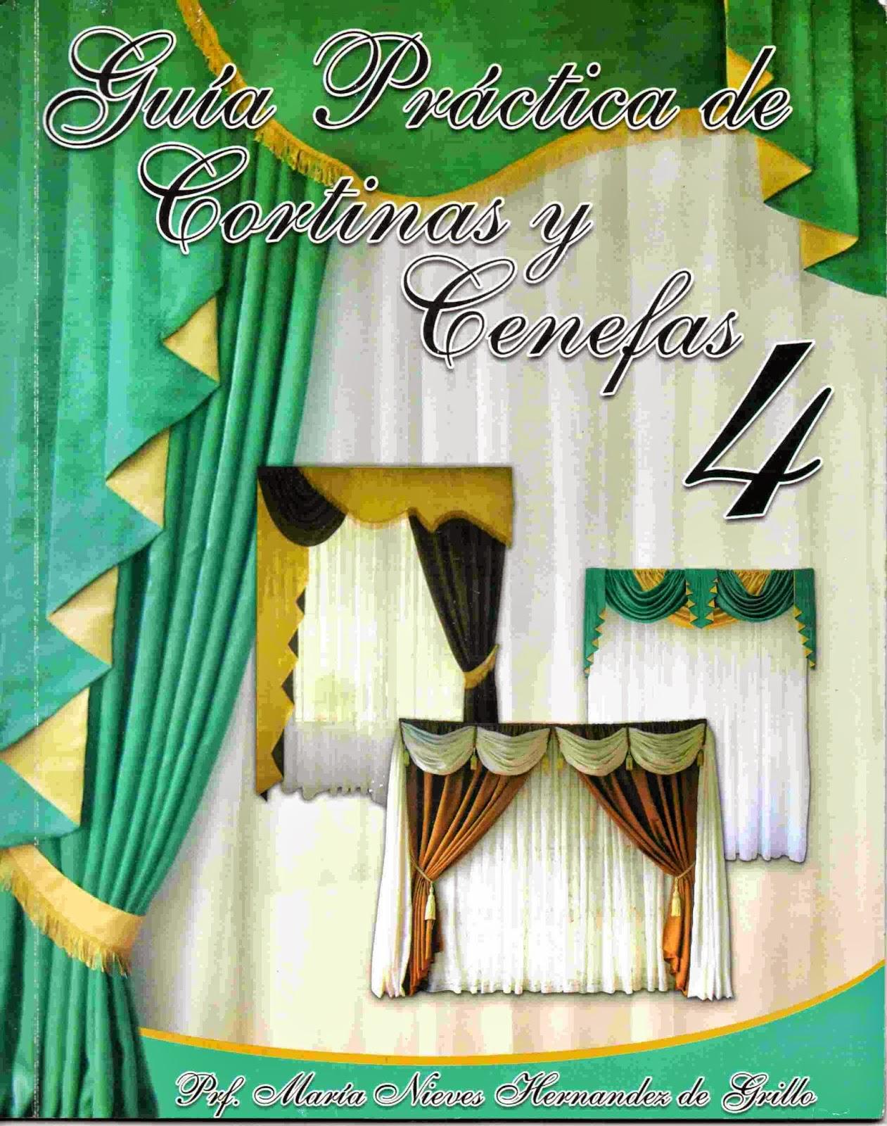 Manual práctico que explica paso a paso la elaboración de cortinas y cenefas