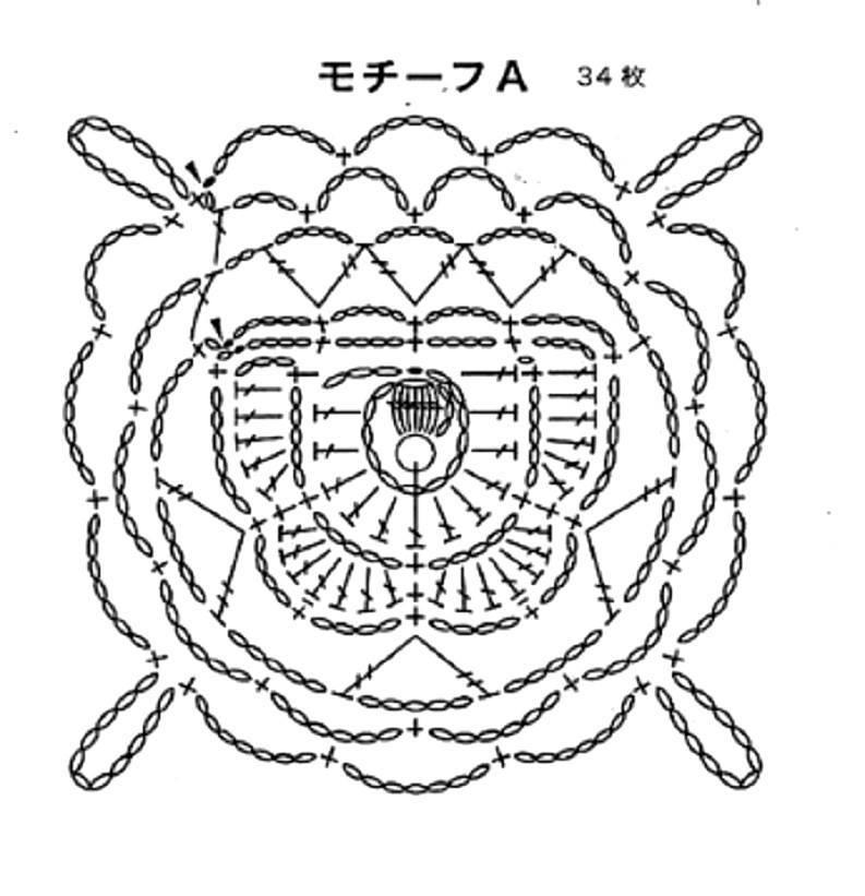 ergahandmade  crochet poncho   diagrams