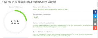 Contoh Harga Website dan Blog di worthofweb.com