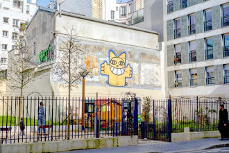 Sunday Street Art : M. Chat - rue du Chalet - Paris 10