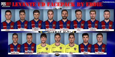 PES 2017 Levante UD Facepack 2018/2019 by Eddie Facemaker