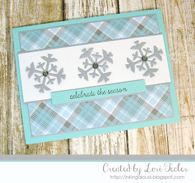 Celebrate the Season card-designed by Lori Tecler/Inking Aloud-stamps and dies from Reverse Confetti