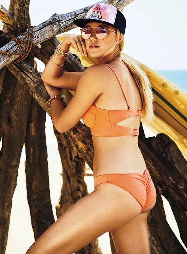 Maika Monroe sexy bikini swimwear photo shoot for Women's Health Magazine