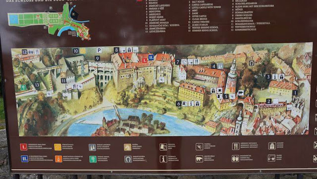 plano  castillo de Cesky krumlov
