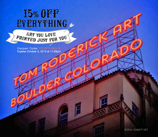 Coupon Code: YOURTHING15 www.troderickart.com