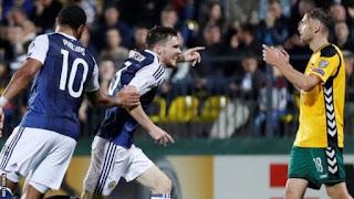 World Cup qualifier: Scotland thrash Lithuania 3-0