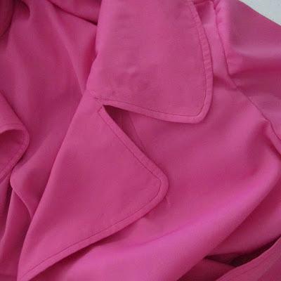 Darlene's Silk Coat: construction details