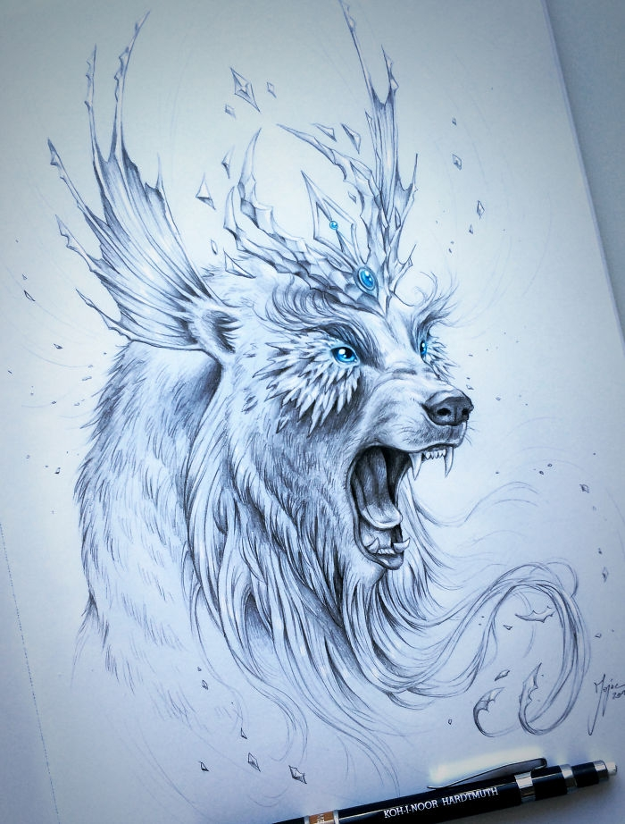07-Ice-Polar-Bear-Jonas-Jödicke-jojoesart-Fantasy-Animal-Drawings-with-Souls-of-Nature-www-designstack-co
