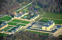 Chateau de Vaux-le-Vicomte vue du ciel