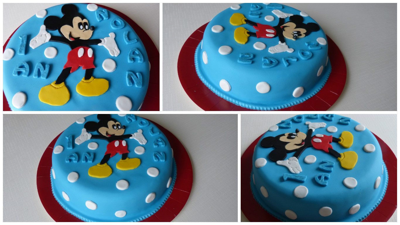 Super Gâteau Mickey Heureux BP88