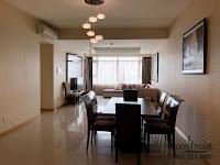 Cho thuê Ruby 1 Saigon Pearl 150m2 tầng 21 | phòng khách có đèn chùm