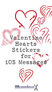 image of Valentine Hearts stickers and illumineX logo