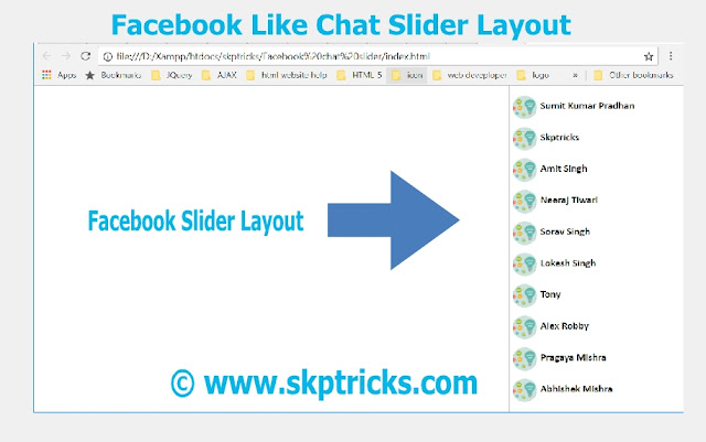 facebook like chat slider layout,how to design Facebook style chat slider layout,source code for Facebook like chat slider design ,Facebook Style Right Chat Slider,facebook right chat sidebar friends,facebook right chat bar,facebook chat bottom right corner,facebook chat list right side,facebook chat down right now,how to get facebook chat on right side,facebook chat on the right side,facebook chat on the right