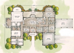Home Plans With Courtyard In Center | Amazing House Plans