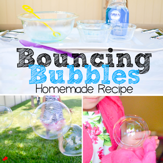 HOMEMADE BOUNCING BUBBLES RECIPE + VIDEO (NO GLYCERIN OR CORN SYRUP)