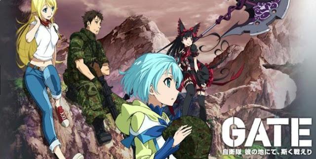 Gate: Jieitai Kanochi nite, Kaku Tatakaeri - Top Best War Anime List (From Medieval, Modern to Future War)