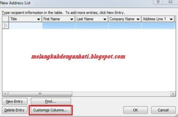 Membuat undangan dengan fungsi Mailings di word 2007