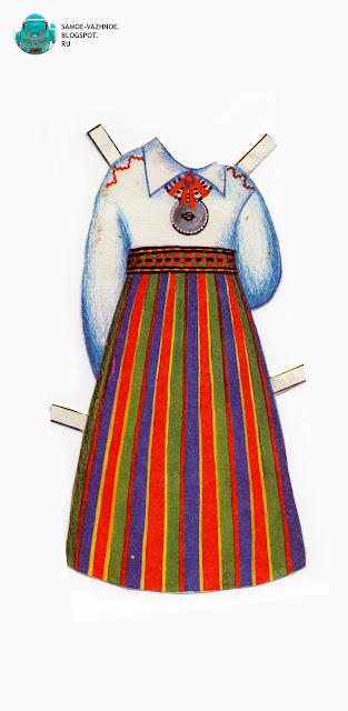 Бумажные куклы для распечатки СССР, советские. Народный костюм. Бумажные куклы в национальных костюмах Эстония Таллин СССР.