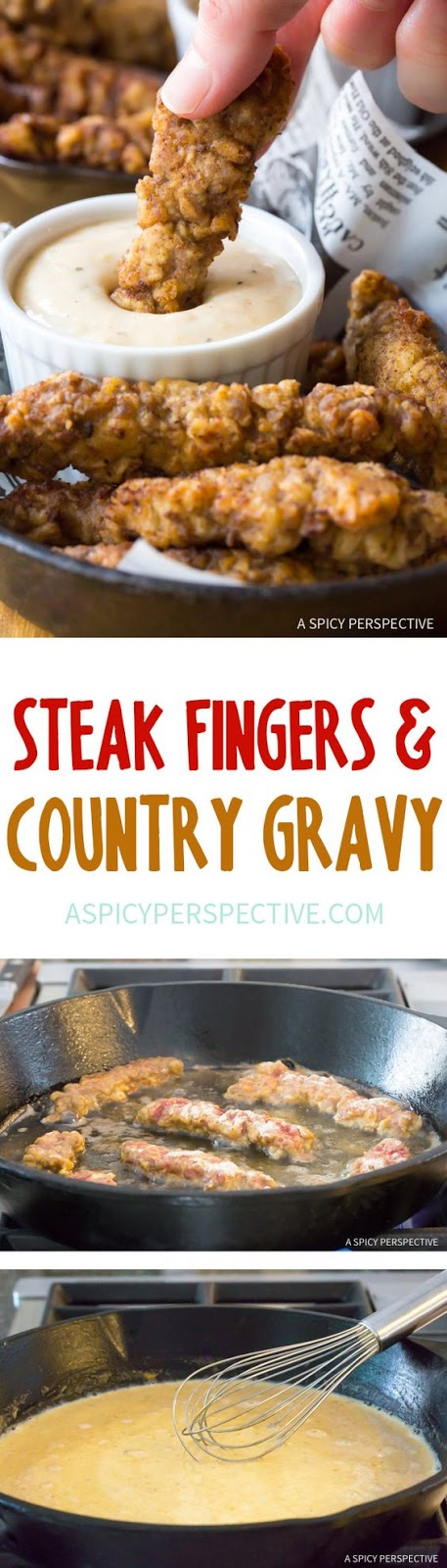 Steak Fingers with Country Gravy - Beef Recipes