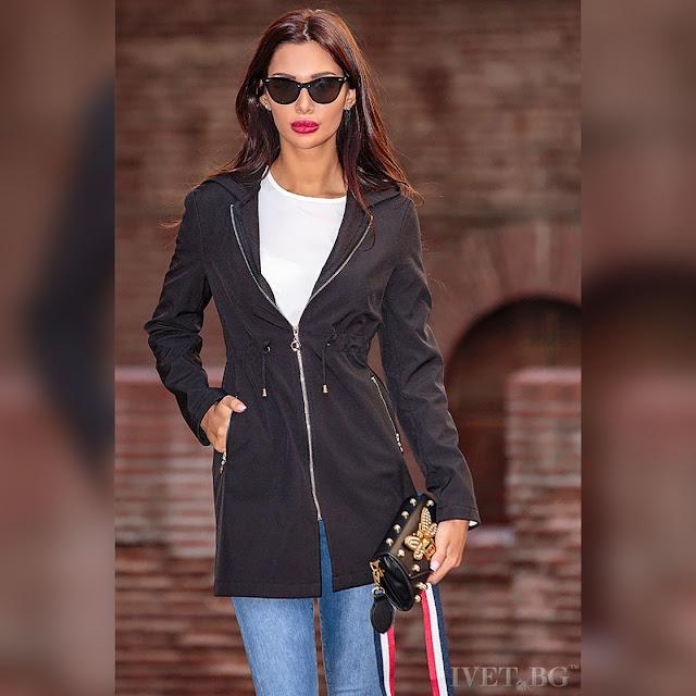 Γυναικείο μαύρο μπουφάν ESMA BLACK