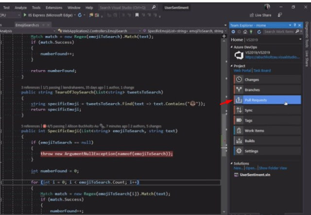 Pull Request,visual studio 2019