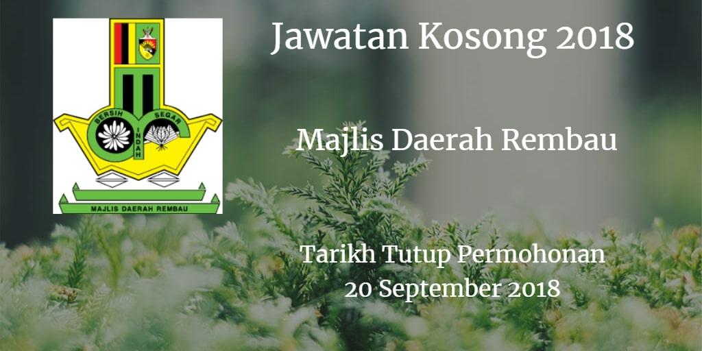Jawatan Kosong MDR 20 September 2018