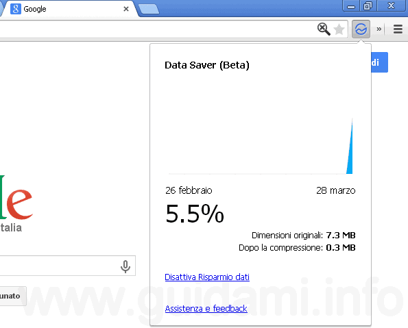 Data Sever estensione Chrome